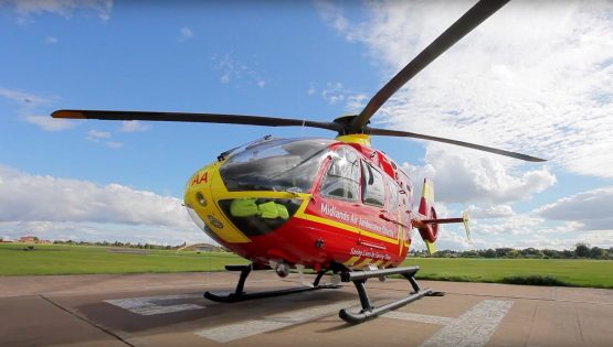Midlands Air Ambulance Charity Helicopter