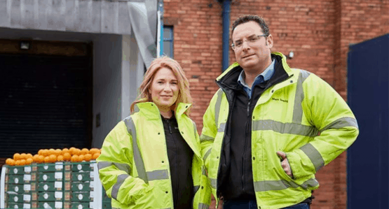 Jupiter Group directors in high-vis outside factory